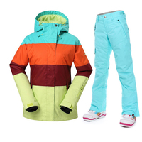 HOT SALE NEW Women S Winter Sport Skiing Suit Snowboard Coats And Pants Outdoor Waterproof Windproof