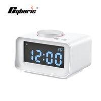 Cyboris K1 Dormir Siesta Despertador Pantalla LED Altavoz WithDual Función de Altavoz de FM Cargador USB Para El teléfono Mp3 Mp4 Ipad equipo