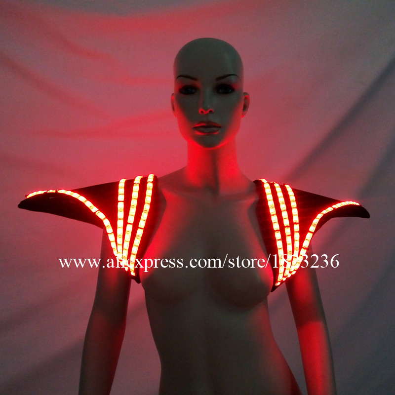 ba25b8f593fe1 Colorful LED Light Shoulder Clothes Luminous Sexy Vest Ballroom Dance  Cosplay For Halloween Christmas DJ Nightclub-in Glow Party Supplies from  Home   Garden ...