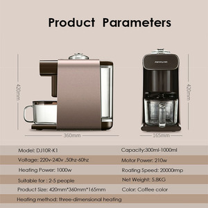 Image 5 - New Joyoung K1/K61 Multifunction Coffee Soymilk Maker Household Office Soybean Milk Machine Smart Appointment Cleaning Blender