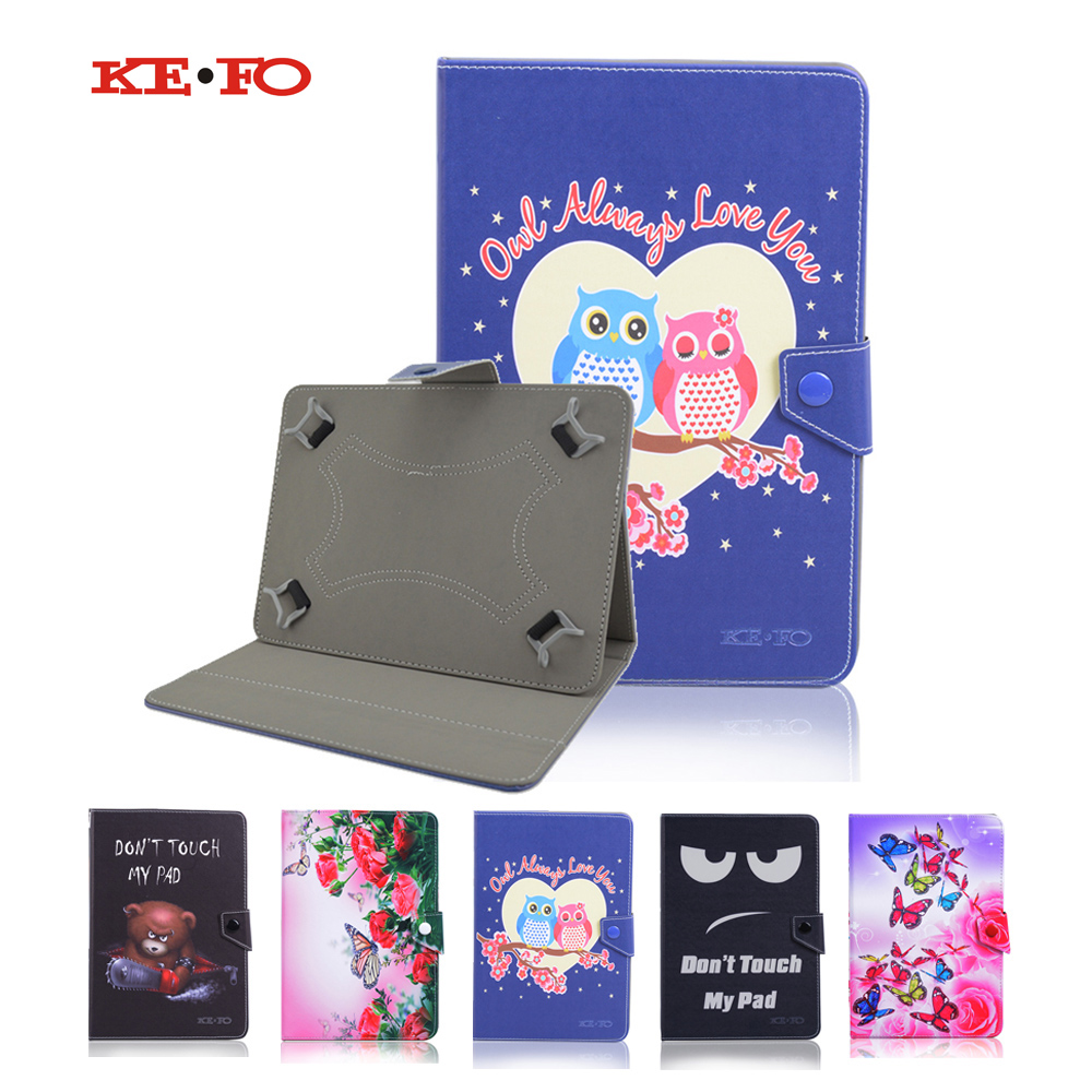Cute Print PU Leather Universal Cover for Wexler Tab 10is/Wexler Tab 10iq 10.1 inch Case Flip Tablet Bag Large Size+3 gifts