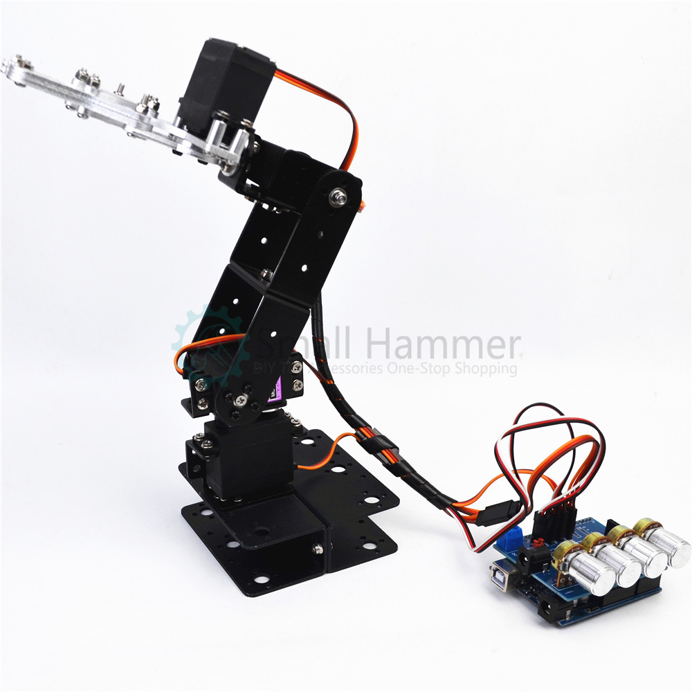 Us 69 9 Snam5300 4dof Aluminum Robot Arm Diy Robotic Claw Arduino Kit In Model Building Kits From Toys Hobbies On Aliexpress