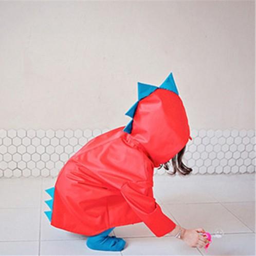 Dwayne schattige kleine dinosaurus waterdichte polyester regenjas - Kinderkleding - Foto 4