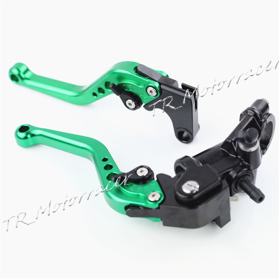 For Yamaha YZF R1 2004-2013 & YZF R6 2006- 2013 Aluminum Motor Cylinder Brake Clutch Lever 2009 2010 2011 2012 Green 6 colors cnc adjustable motorcycle brake clutch levers for yamaha yzf r6 yzfr6 1999 2004 2005 2016 2017 logo yzf r6 lever