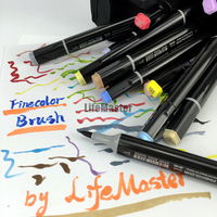 Professional Brush FINECOLOR Art Marker Twin Tip Soft Brush Round Comic Design Art Supplies
