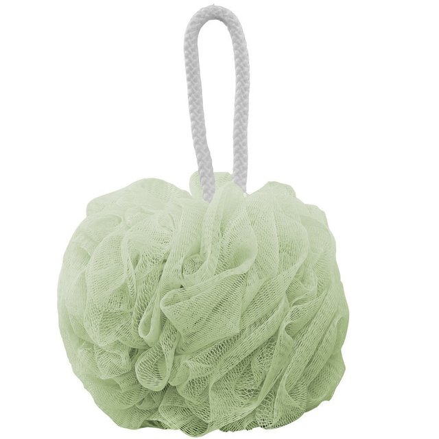 2016 Продвижение Прямых Продаж 2 пакетов Ванна Душ Губка Loofahs Пуф Сетки Кисти Мяч Набор (светло-Зеленый и Чистый белый)