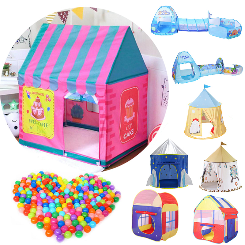 Kids Toys Children's Tent Play Tent Boy Girl Princess Castle Indoor Outdoor Kids House Play Ball Pit Pool Playhouse For Kids