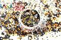 RHP26-259 Colores de La Mezcla Mezclar Colores formas de Punto redondo Del Brillo para el arte del clavo, uñas de gel, esmalte de uñas maquillaje y la decoración de DIY