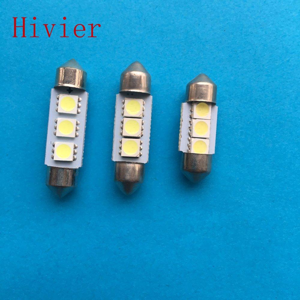 10X White 31MM 6 5730 Canbus Error Free Festoon Dome LED Light Bulb DE3425 I018