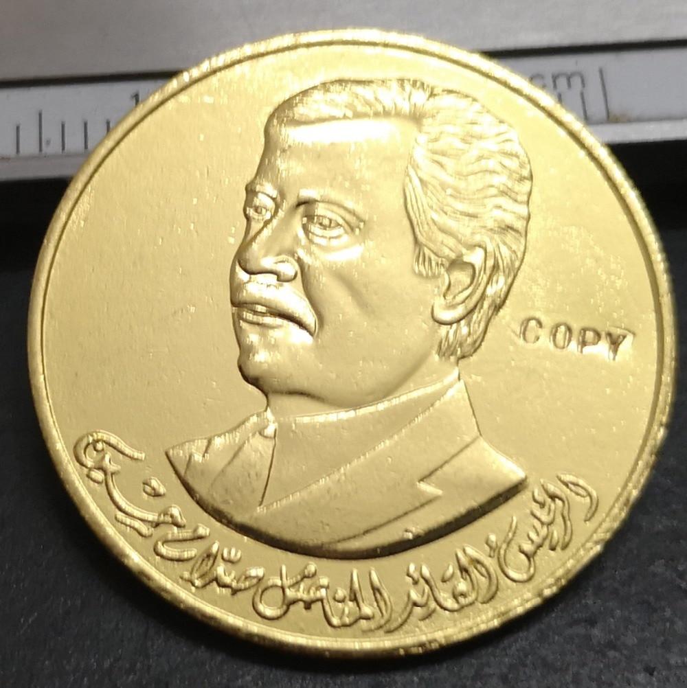1400(1980) Iraq 50 Dinars (President Saddam Hussein) Gold Copy Coin