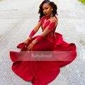 Vermelho longo Vestidos de Baile De Alta Pescoço Sheer Ver Através de Longo Trecho manga Até O Chão de Cetim de Alta Qualidade Da Sereia de Baile Africano vestido