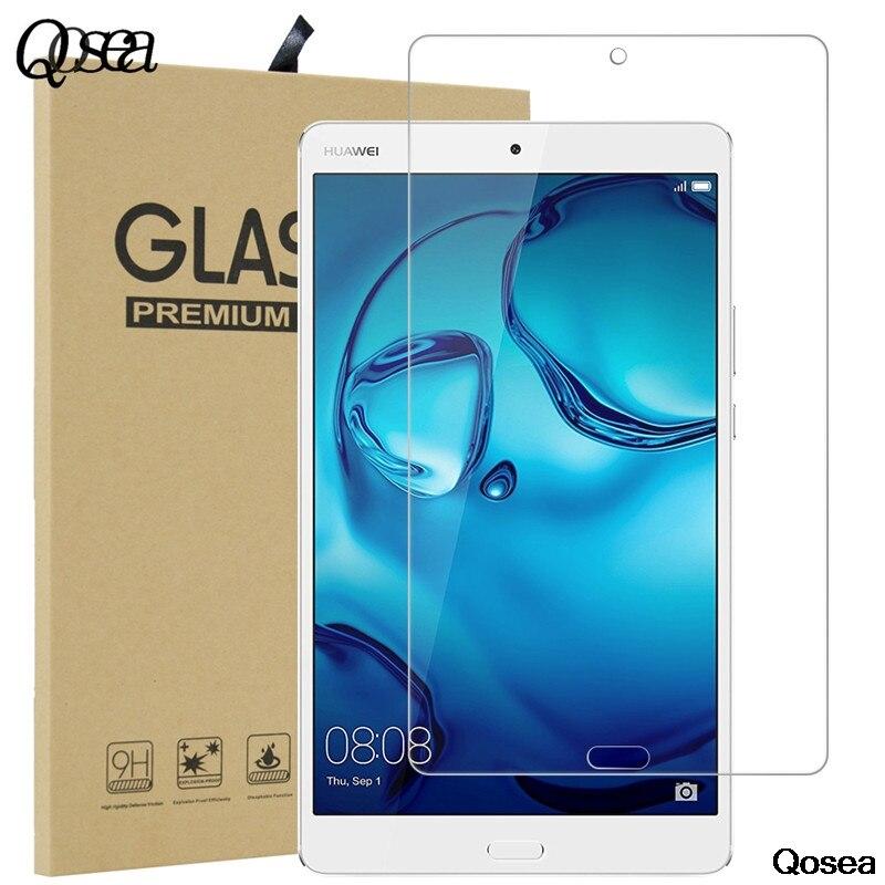 Qosea Trempé Verre Pour Huawei MediaPad M3 Lite 8.0 10 Table 9 H Dureté Clair De Protection Film Anti-Explosion écran Protecteur