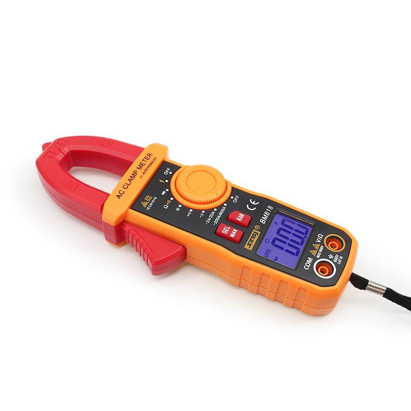 SZBJ BM819 Digital Clamp Meter Ammeter ACV/DCV ACA Auto Range Measurement Of Large Capacitance NCV BM818 Digital Clamp Meter