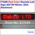 Led sinal, De rolagem. Semi exterior / interior, Controle remoto, De controle, 502 * 89 * 40 mm, 7 * 60 centímetros de alumínio