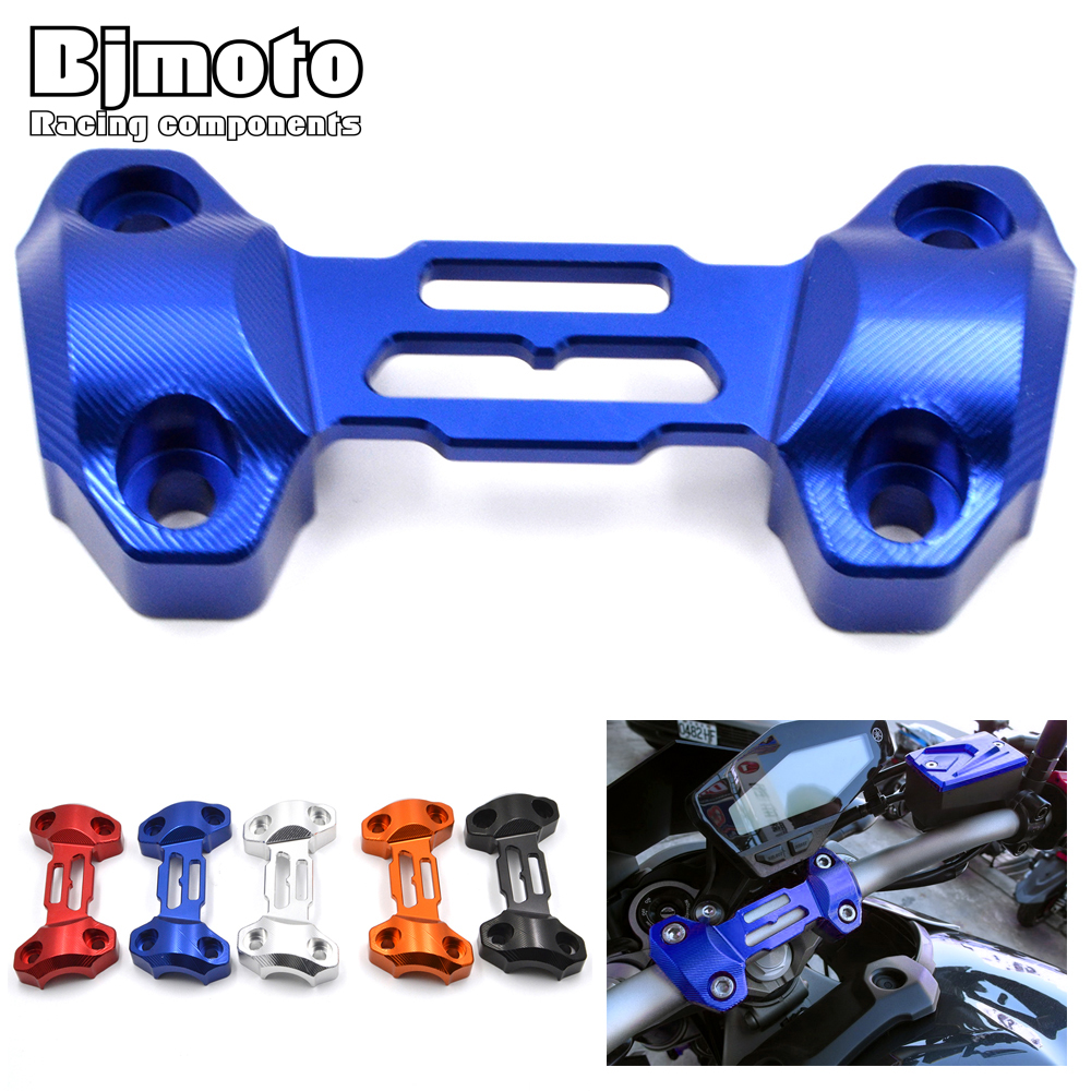 Motorcycle CNC Aluminum Handle Bars Handlebar Risers Top Cover Clamp For Yamaha MT-09 MT09 FZ9 2013-2017 Motorbikes for yamaha fz6 fz1 fz8 xj6 xjr1300 motorcycle cnc aluminum brake master cylinder clamp handlebar clamp cover red