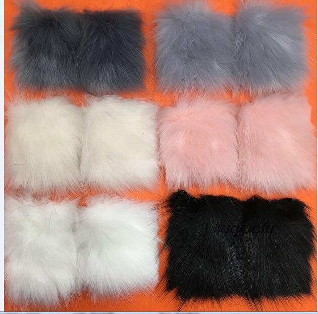 Haute qualité imitation fourrure de renard bande de mode manteau de fourrure en peluche tissu, 170*90 cm (une cour) un pcs