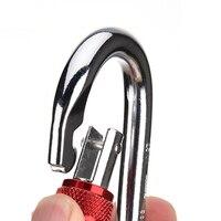 2 упак. о-образный карабин супер прочность сталь винт блокировки защиты карабина для скалолазания пеший туризм йога гамак