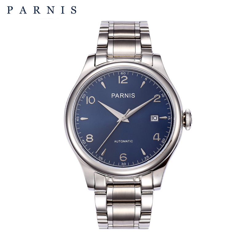 PARNIS 38mm Mechanical Watches Full Stainless Steel 18k Gold-plated Automatic Watch Men Top Brand Luxury relogio masculinoPARNIS 38mm Mechanical Watches Full Stainless Steel 18k Gold-plated Automatic Watch Men Top Brand Luxury relogio masculino