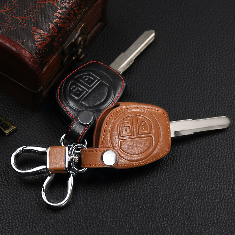 2017 High quality leather 2 button remote control key set for Suzuki sx4 swift liana large vitara key cover, car styling все цены