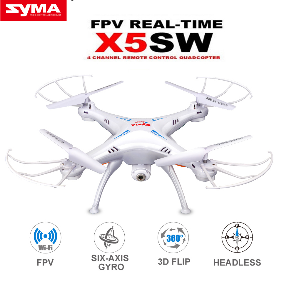 SYMA X5SW RC Drone with WiFi Camera Real-time Transmit FPV Quadcopter (X5C Upgrade) Headless Mode RC Helicopter syma x5sw drone with wifi camera real time transmit fpv quadcopter x5c upgrade hd camera dron 4ch rc helicopter remote control