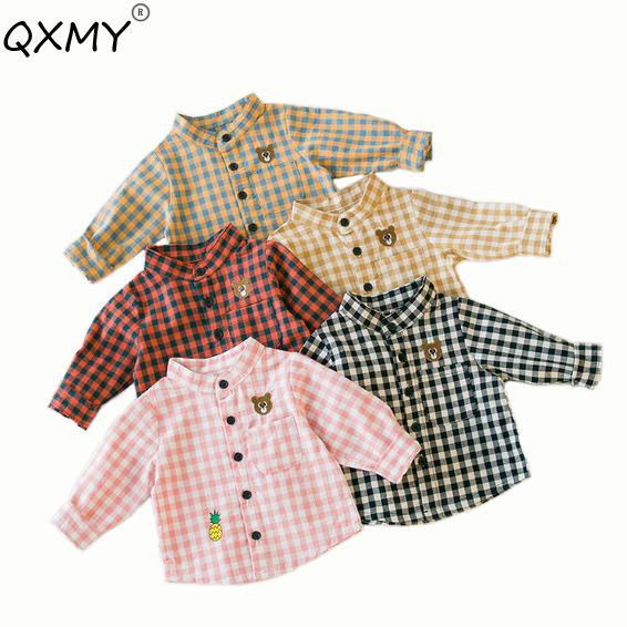 Baby T-Shirt Long-Sleeves Tops Toddler Girls Boys Cotton Children for 6-24M Lattic Embroidery