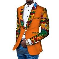 Men Blazer Slim Fit Fancy Blazers Suit Jacket African Men Clothes Blazer Wedding Dress Suit Dashiki Bazin Riche Ankara WYN145