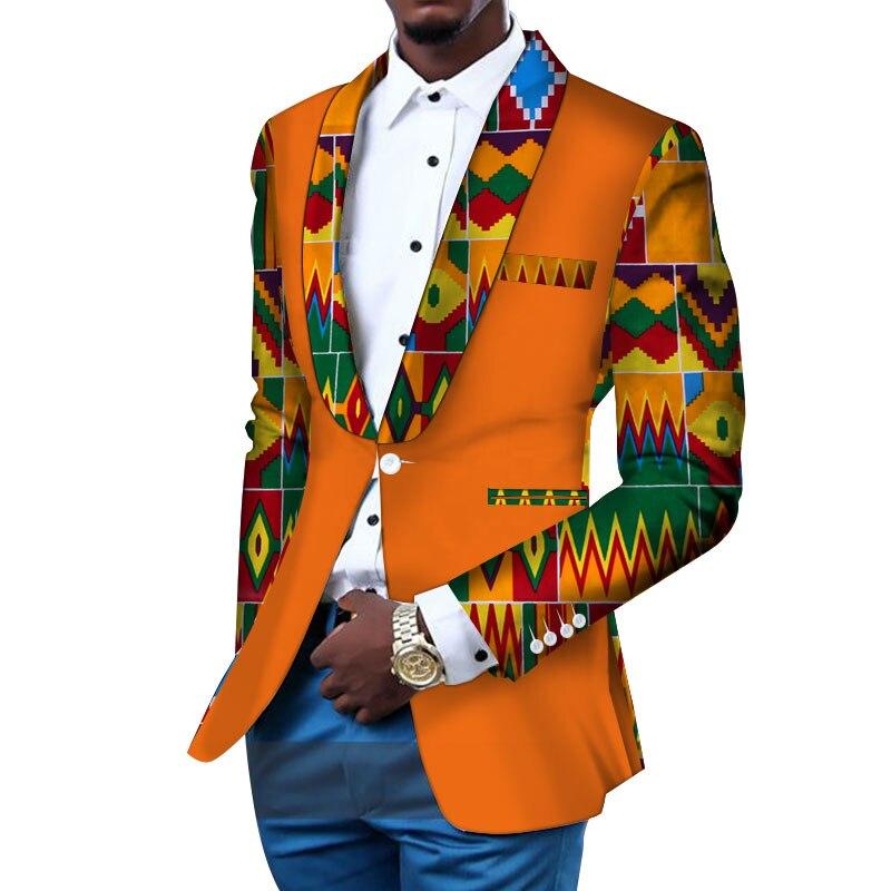 Blazer homme Slim Fit fantaisie Blazers costume veste africaine hommes vêtements Blazer mariage robe costume Dashiki Bazin Riche Ankara WYN145