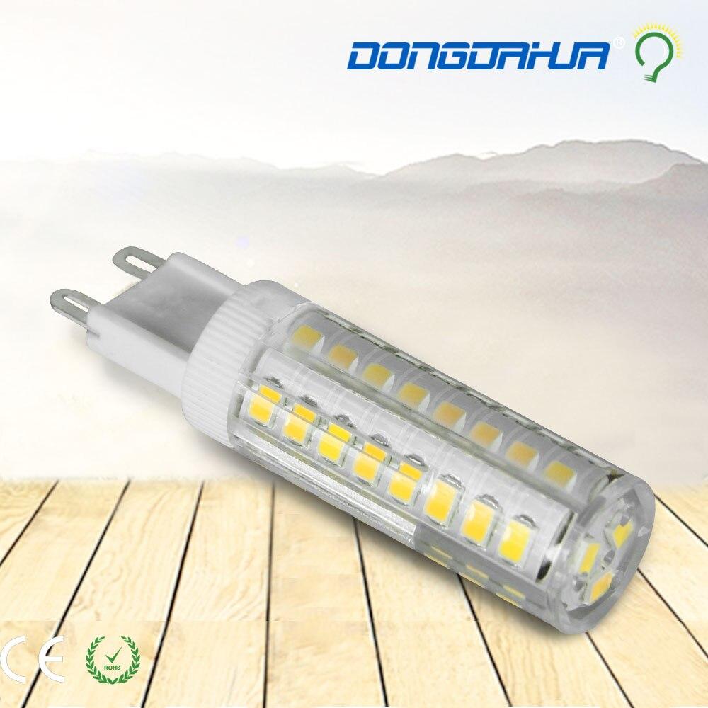 lamp led light bulb 3w 5w 7w 9w new ceramic led lamp 7 w dimmable g9 smd 2835 220 v 240 v tube lampara g9 led lamp light