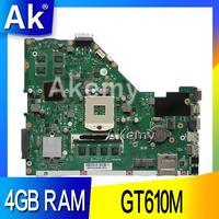 AK X55VD Laptop motherboard for ASUS X55VD X55V X55 Test original motherboard REV2.1/REV2.2 GT610M 4GB RAM