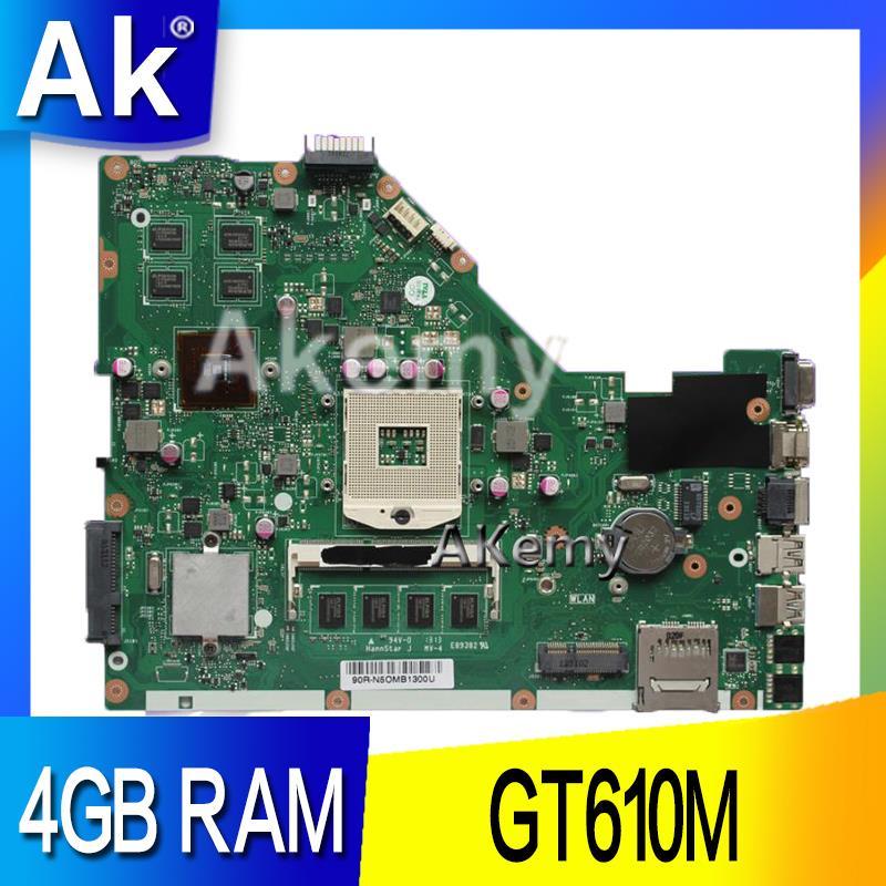 Carte mère d'ordinateur portable AK X55VD pour ASUS X55VD X55V X55 Test carte mère originale REV2.1/REV2.2 GT610M 4 GB RAM
