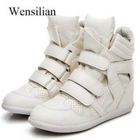 Women Winter Ankle Boots Platform High Top Sneakers Female Height Increased Casual Shoes Hook Loop Bottes Zapatos De Mujer