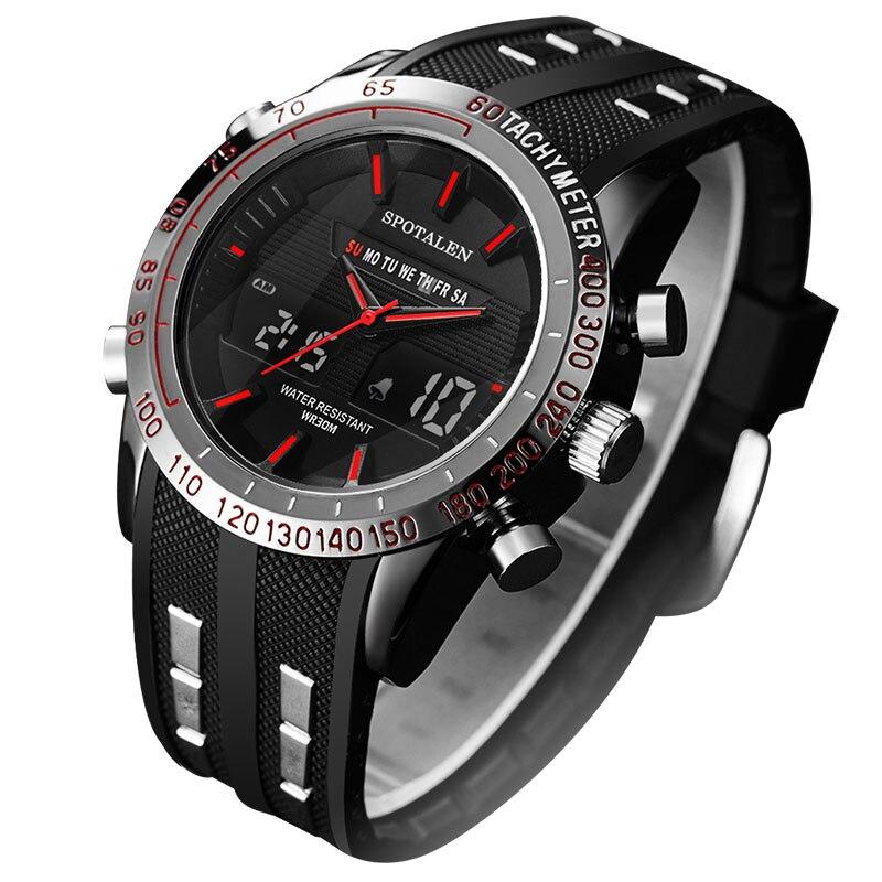 SPOTALEN Top Brand Watch Men Sports Series Luxury Logo Multi-functional Digital Electronic Alarm Stopwatch Clock For Man xfcs