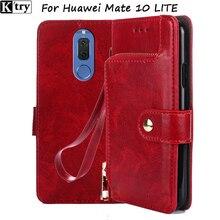 Leather Wallet Case for Huawei Mate 10 Lite Flip Cover Phone Cases for Huawei Mate 10 Lite Nova 2i Nova2i Hoesjes 5.9″
