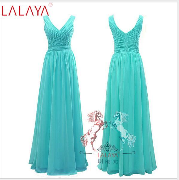 Long Chiffon   Bridesmaid     Dress   Plus Size Gown 2018 New Simple Fashion Wedding Party   Dresses   Ruched Large Size   Dress   vestido Q015
