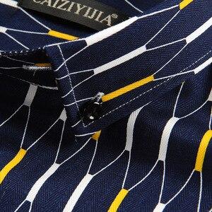 Image 5 - Argyle camisas casuales a cuadros para hombre, camisa de vestir de manga larga con cuello abotonado, 100% algodón, de alta calidad