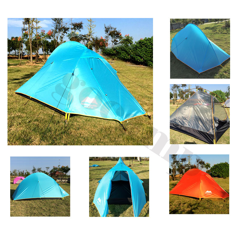 1-2 Person tourist Tent Double-layer windproof Tent Waterproof Dome Tent Camping 4 seasons Tent waterproof tourist tents 2 person outdoor camping equipment double layer dome aluminum pole camping tent with snow skirt