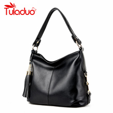 New Luxury Handbags Women Bags Designer 2017 High Quality Leather Casual Women Shoulder Bags Tassel Crossbody