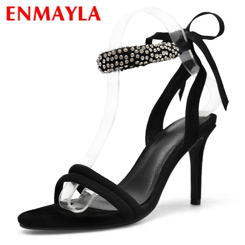 ENMAYLA  Kid Suede  Basic  Party  Sandalias De Mujer Verano 2019 Summer Fashion High Heel Sandals Size 34-39 LY1085ENMAYLA  Kid Suede  Basic  Party  Sandalias De Mujer Verano 2019 Summer Fashion High Heel Sandals Size 34-39 LY1085
