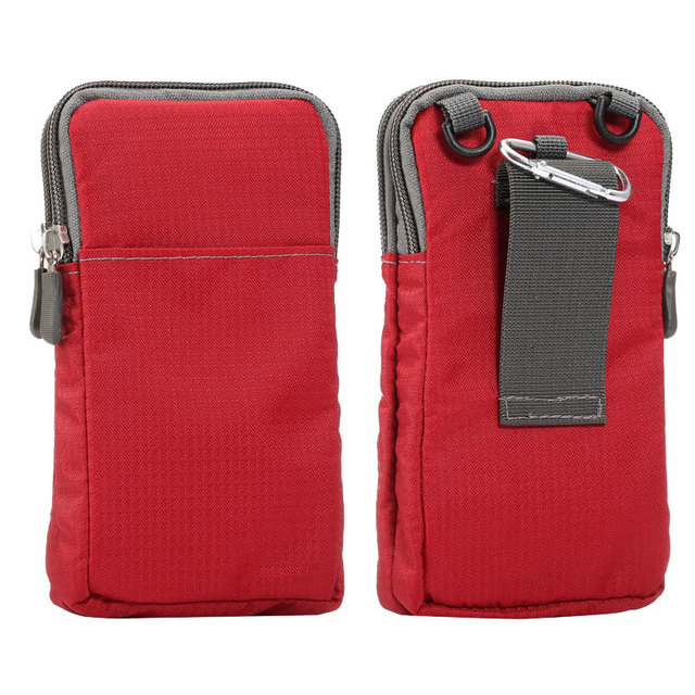 Outdoor 6.0 inch Phone Pouch Wallet Belt Clip Bag for Samsung Galaxy A3 A5 A7 2016 J3 J5 J7 S5 S6 S7 edge Plus Grand Prime Case