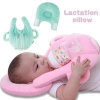 Cotton baby pillow infant Feeding Nursing Pillow head support kids shaped headrest sleep positioner to prevent flat head R4