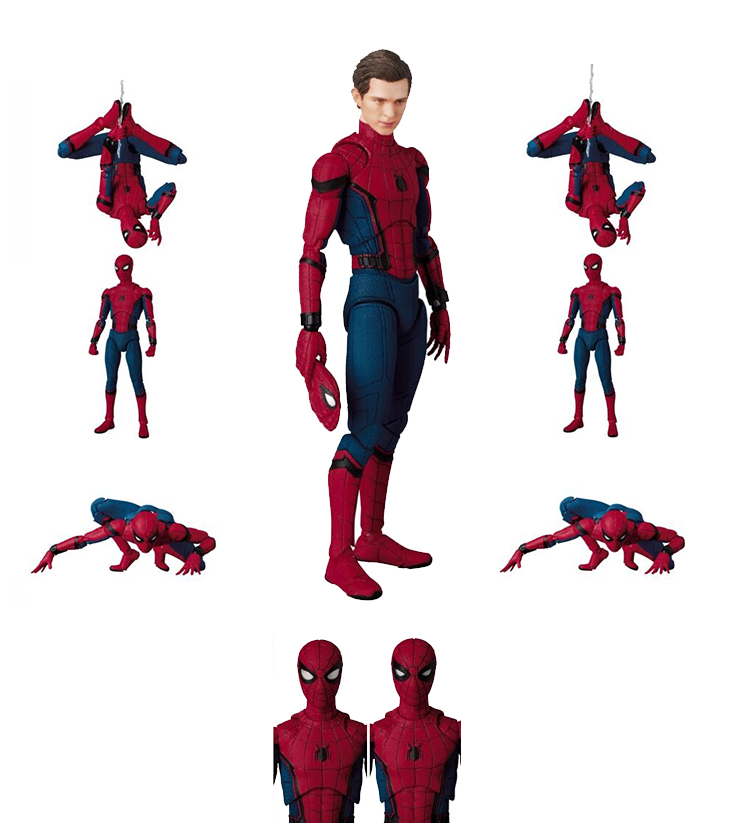 Spider-man Homecoming MaF047 Movie Homecoming Spiderman PVC Action Figure Collectible Box figma x man series spiderman figure no 001 revoltech deadpool with bracket no 002 revoltech spider man action figures