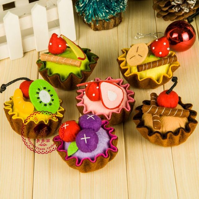 3pcs DIY Handmade Fruit Cake For Birthday Gifts Kids Puzzle Craft Accessories