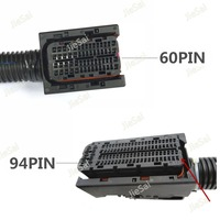 EDC17 EDC16 Automotive 94Pin 60Pin ECU Plug PC Board Socket With Wiring Harness Common Rail Connector For Bosch