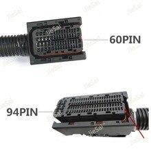 Enchufe de circuito impreso EDC17 Automotive, 9 pines, 60 Pines, ECU, con arnés de cableado, Conector de riel común para Bosch