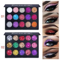15 Colors Eyeshadow Palette Glitter Makeup Waterproof Eye Shadow Powder Eyes Cosmetics SK88