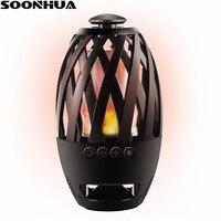 SOONHUA Llama V4.2 Wireless Lámpara LED Altavoz Bluetooth Estéreo Subwoofer Altavoces Atmósfera Luz Suave Musical de Audio