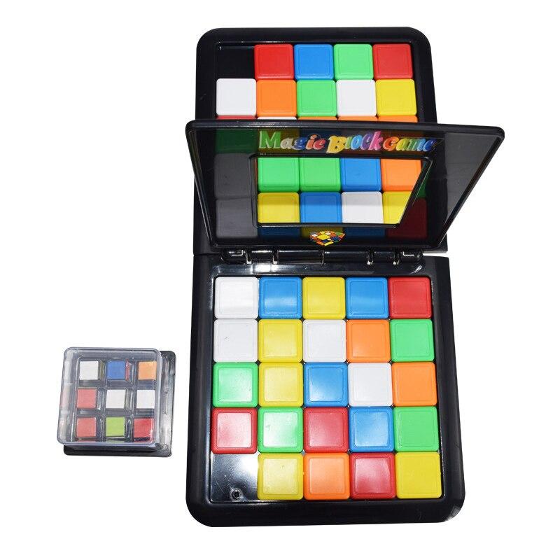 Parent-Child Interactive Colorful Battle Sport Game Puzzle Cube 3D Puzzle Race Cube Board Kids Adults Desktop Education Toy