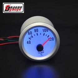 Dragon gauge 2 Cal (52mm) Auto tuning samochodu niebieskie podświetlenie miernik temperatury wody miernik temperatury wody darmowa wysyłka