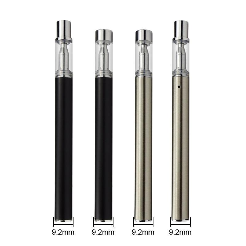 MJTECH 50pcs / lot Disposable Kit 280mAh Battery 0.3ml Thick Oil Cartridge Ceramic Coil Tank Vape Pen E Cigarette Kits