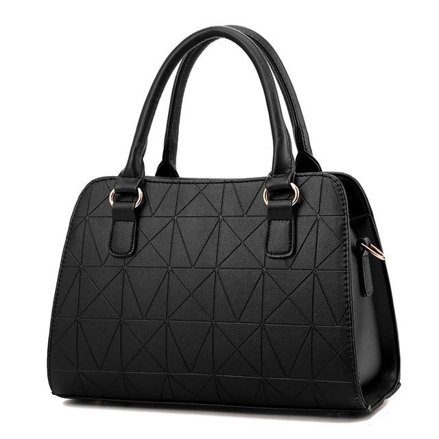 Bow-knot Leather Handbag  2